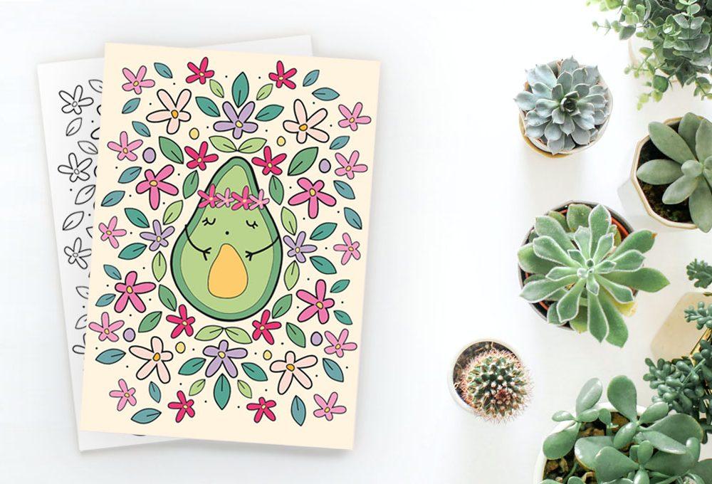 Illustrazioni botaniche da colorare