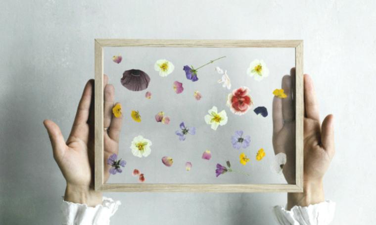 Decorare con i fiori secchi