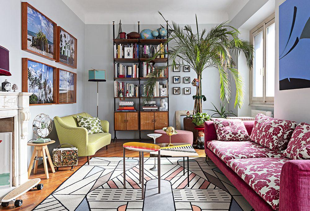 Spirito mix&match nell'appartamento di un collezionista
