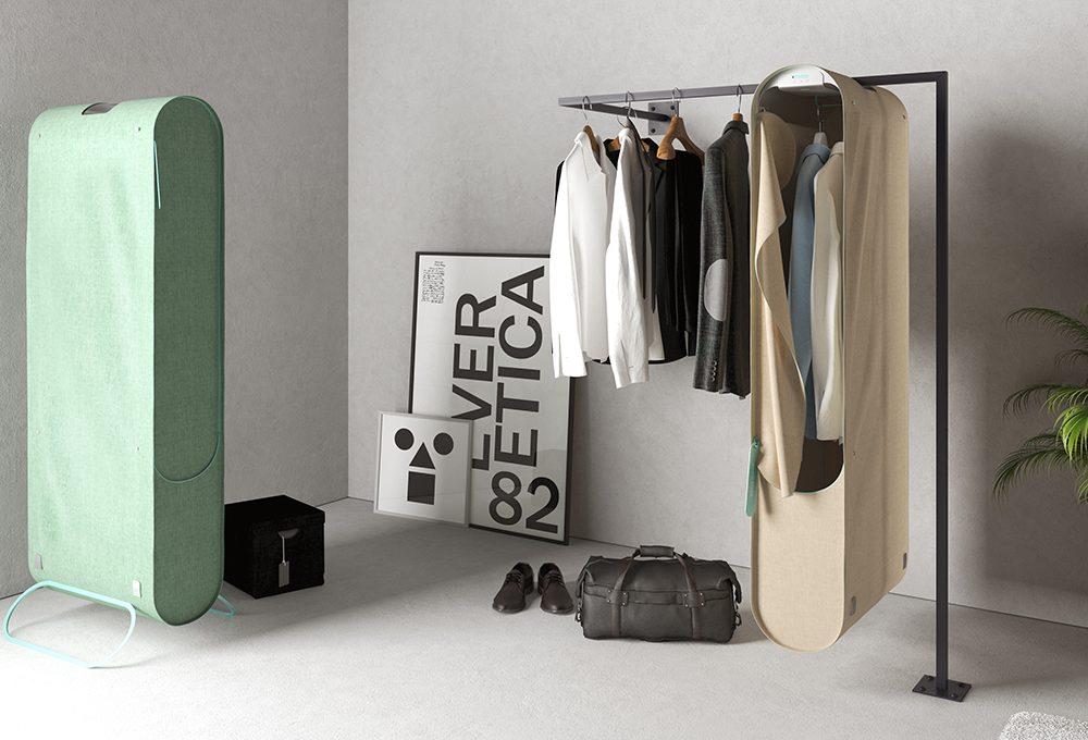 Gli armadi del futuro sanificano abiti, scarpe & Co.