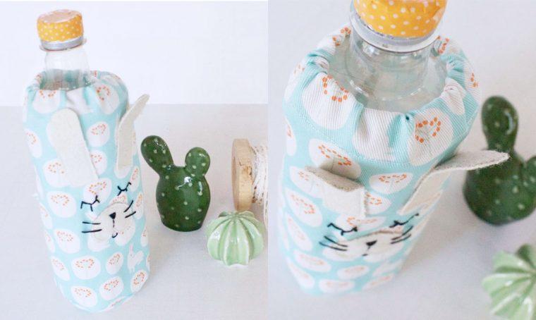 Come realizzare un porta bottiglie in tessuto a forma di coniglio