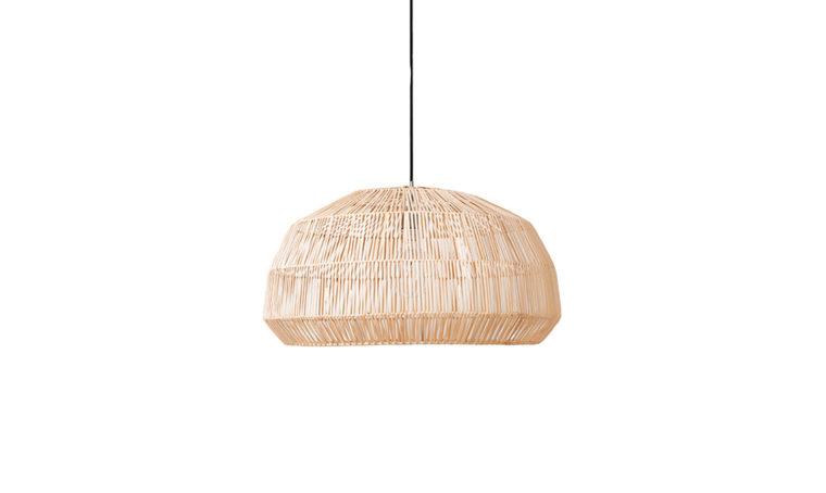 Lampadari realizzati con fibre naturali
