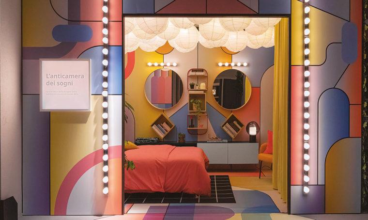 Allestimento camera da letto Salmistraro Ikea