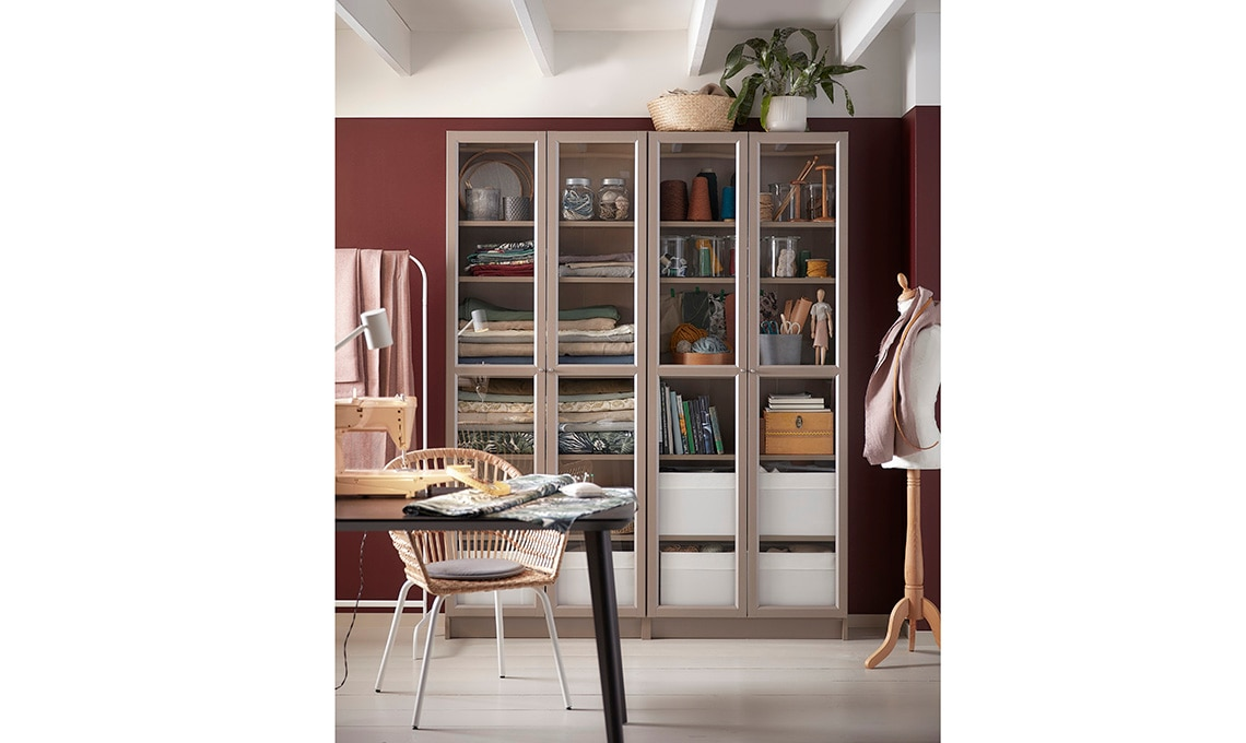 libreria ante vetro
