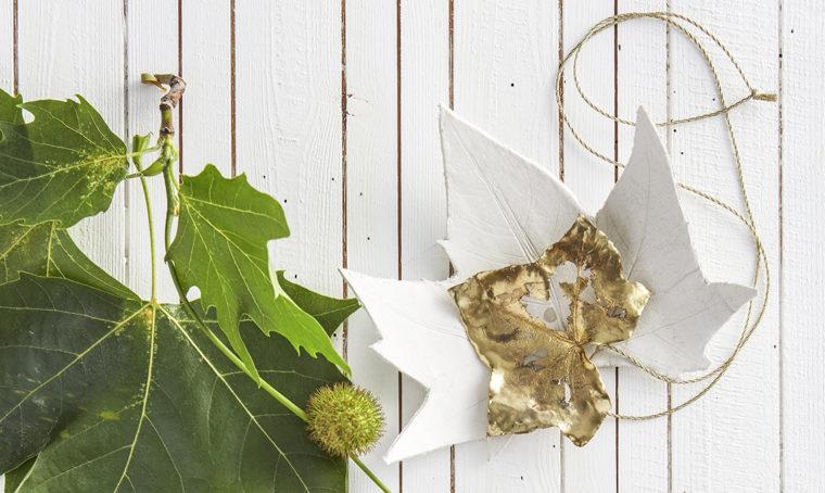 Come creare lo svuotatasche a forma di foglia