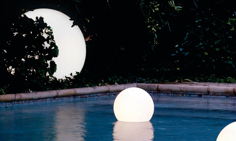 Punto luce: la sfera luminosa Acquaglobo