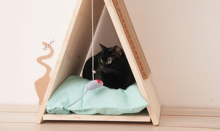 Fai-da-te per il tuo gatto: la cuccia a forma di capanna