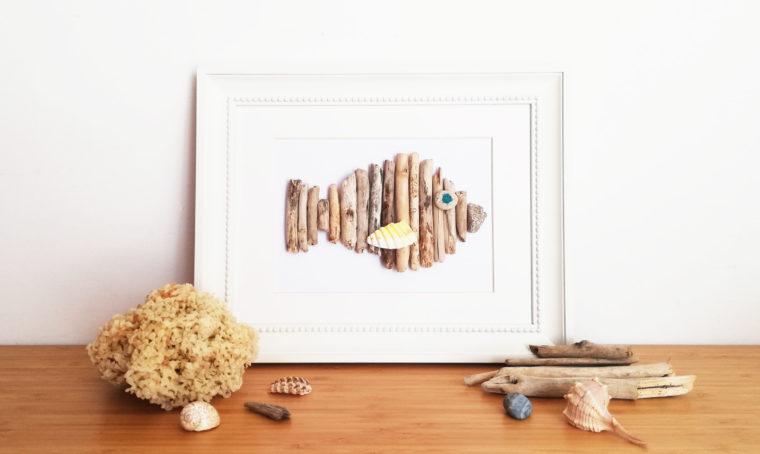 Realizza un quadretto con i pezzi di legno raccolti in spiaggia