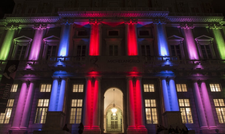 Genova: Palazzo Ducale si colora di luce