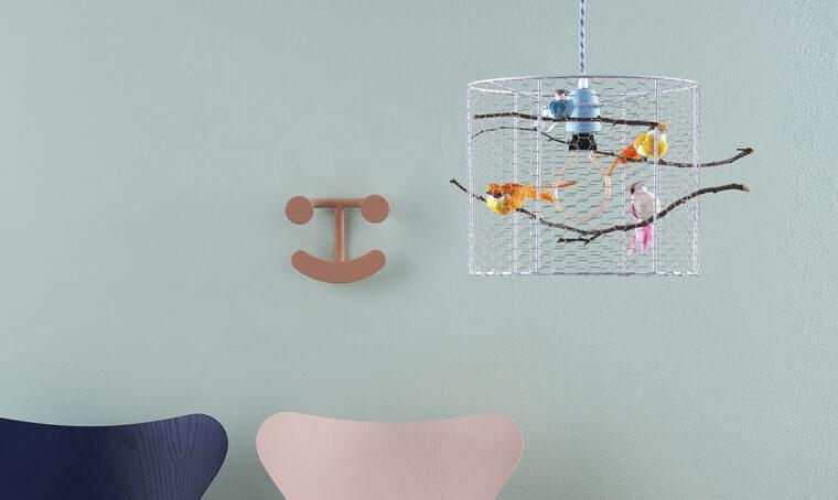 Come fare il lampadario con gli uccellini
