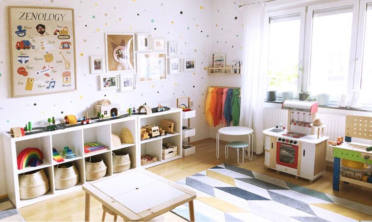 La cameretta ispirata al metodo Montessori per lasciare più spazio al gioco