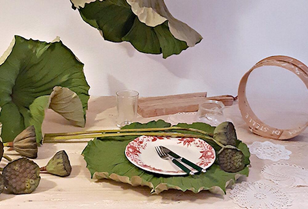 Come realizzare le sculture di foglie di loto