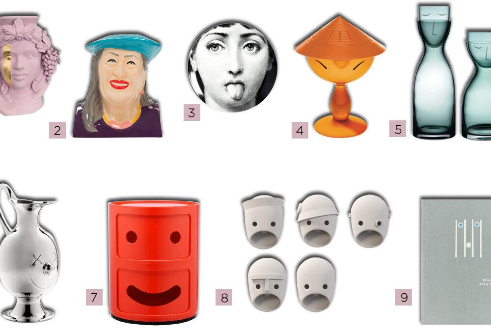 Facce di design: i volti nei complementi per la casa, tra artigianato e prodotti industriali