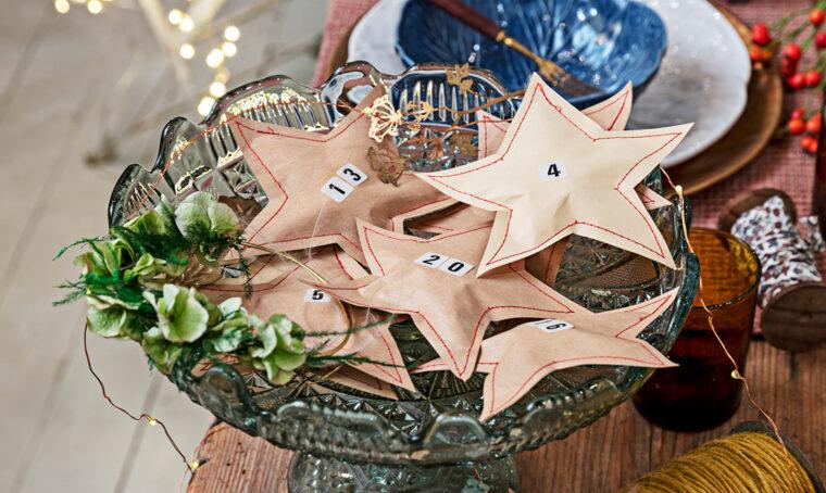 Realizza il calendario dell'avvento a forma di stelle