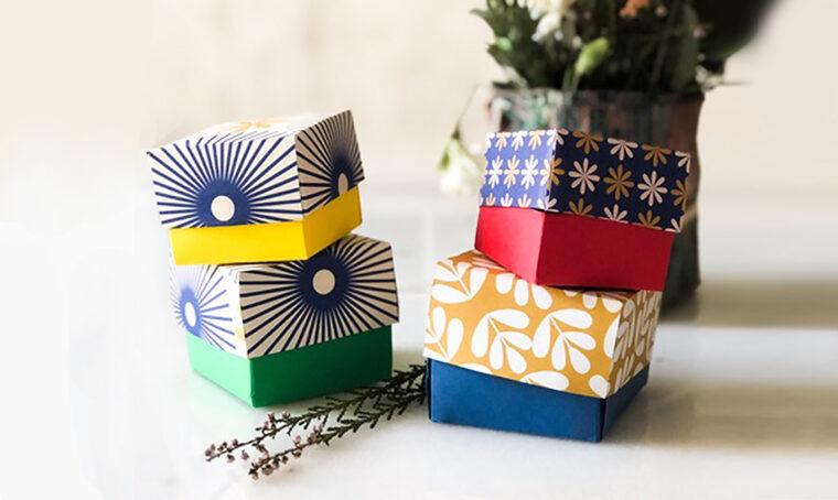 Realizza le scatole 'masu' per i pacchetti di Natale