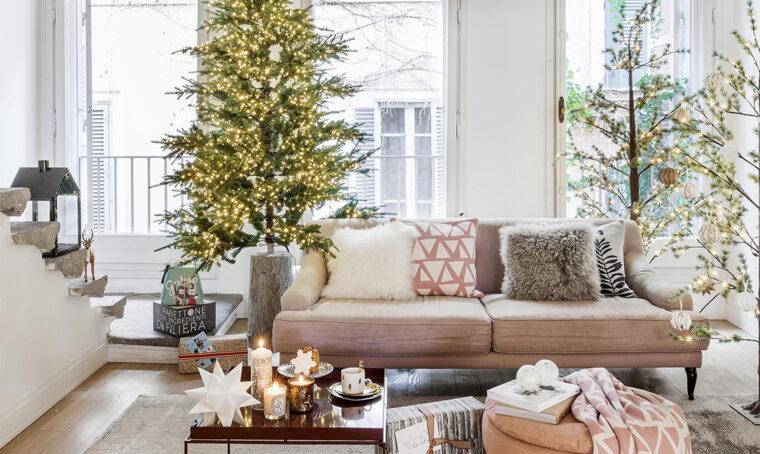 Il soggiorno in stile rustico-rétro si veste a festa