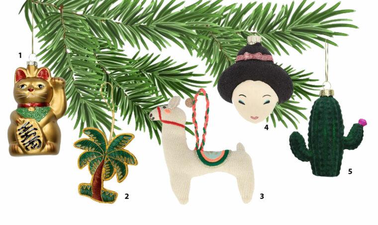 Addobbi divertenti per un albero di Natale non convenzionale