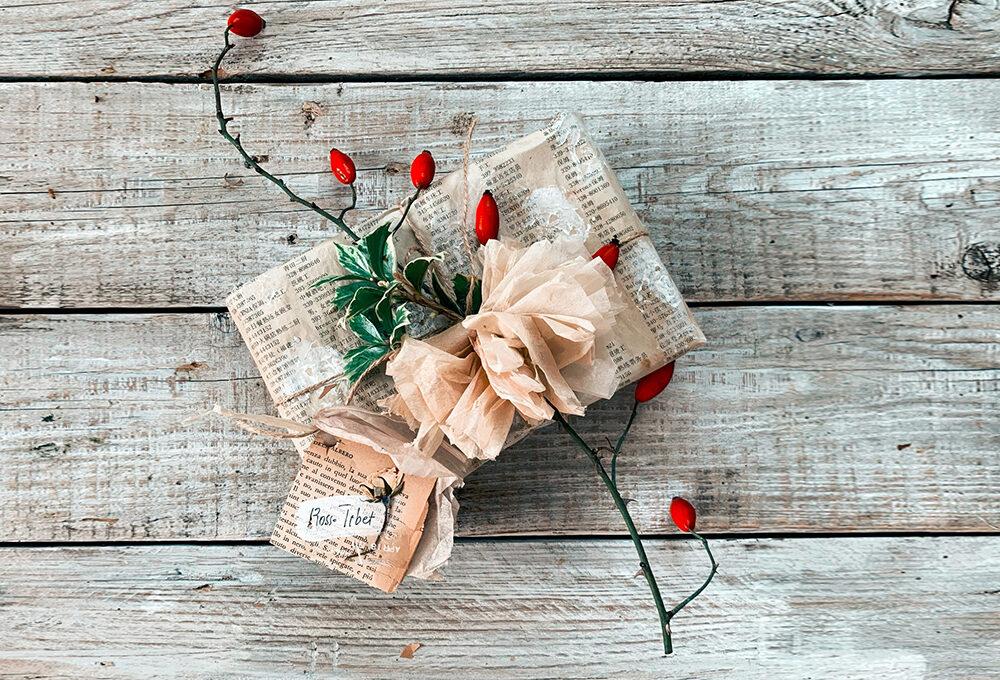 Natale: pacchetti vintage stile