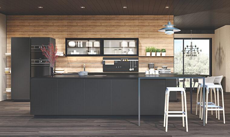 Tendenze: vetro + nero per eleganza e praticità in cucina