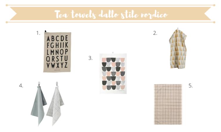 5 tea towel dallo stile nordico per decorare la vostra tavola