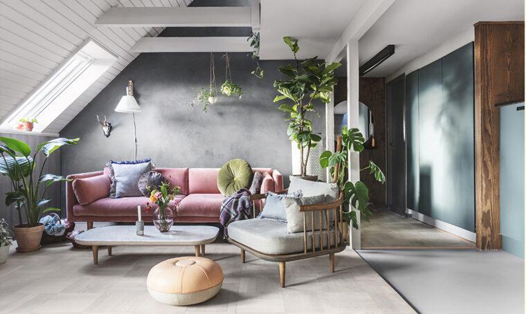 La mansarda sui tetti di Copenhagen si trasforma in un indoor garden