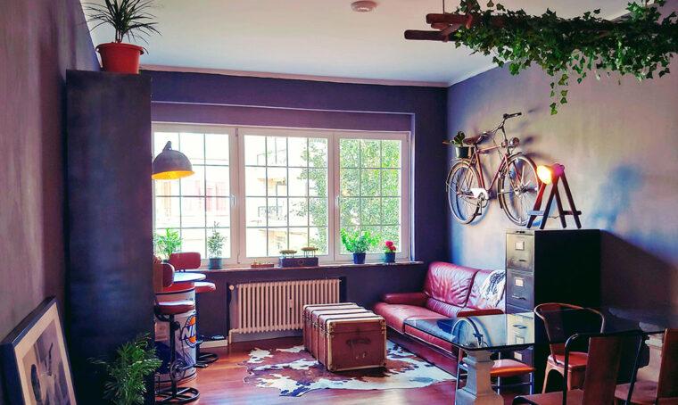 Ispirazione loft industriale per un piccolo appartamento
