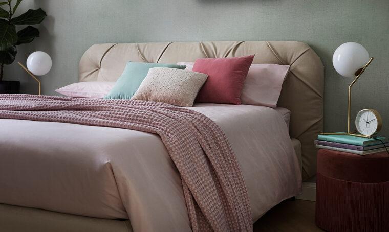 Un letto capitonné, una stylist, due trasformazioni!
