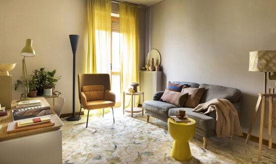 Una parete 'magica' e il living diventa camera, salotto e studio