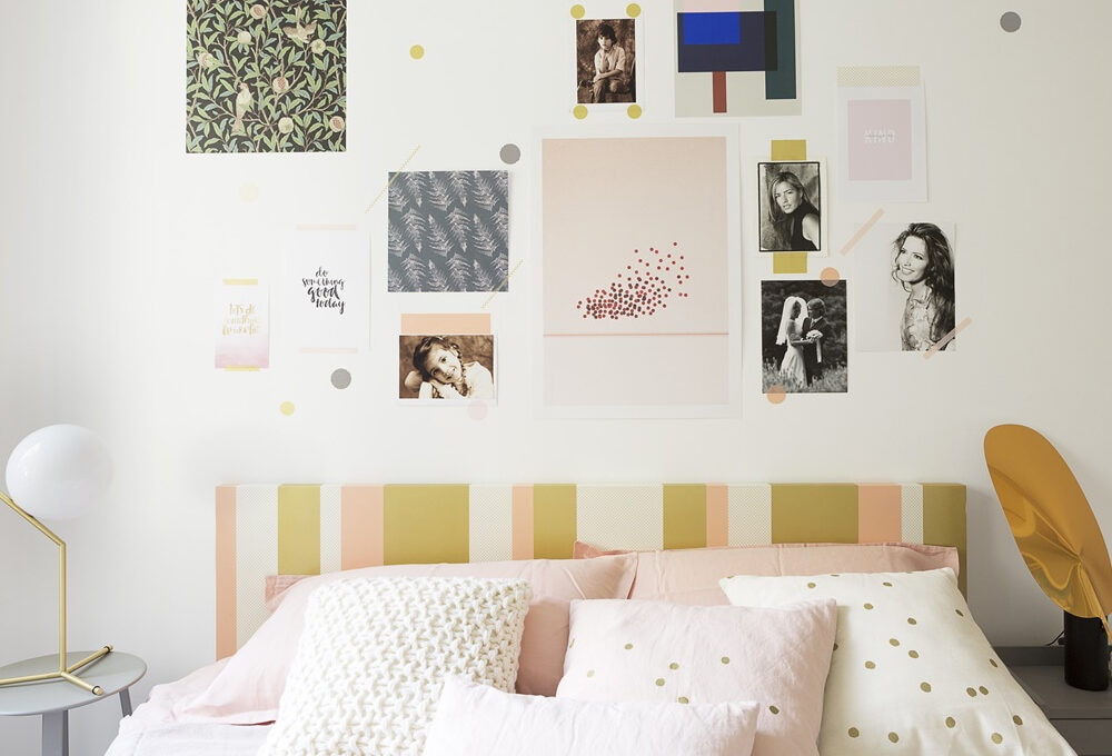 Decorare la camera da letto con i washi tape