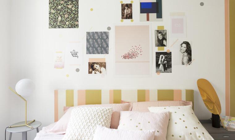 Decorare la camera da letto con i washi tape