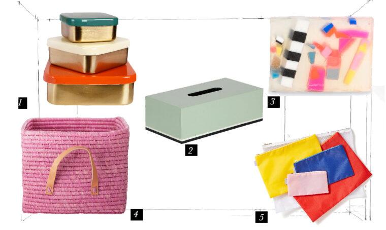 Accessori colorati per il bagno
