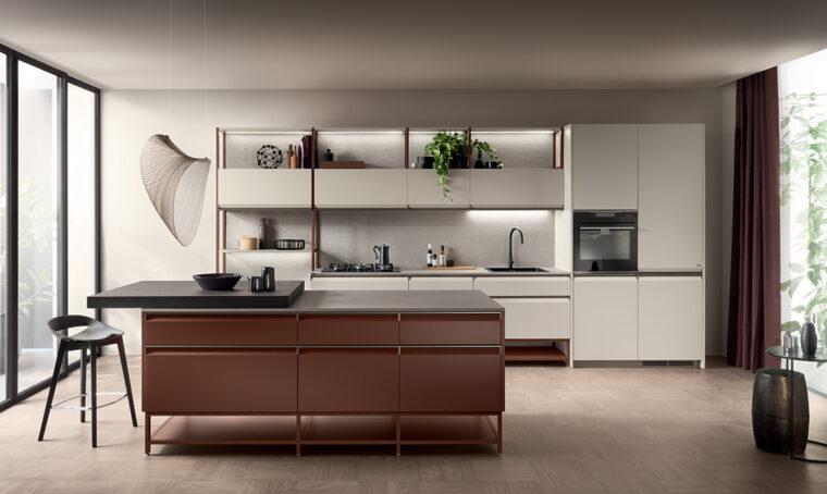 Total look: una cucina abbinata alla zona giorno