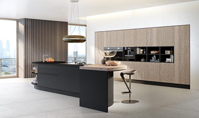 La cucina con l'isola multitasking