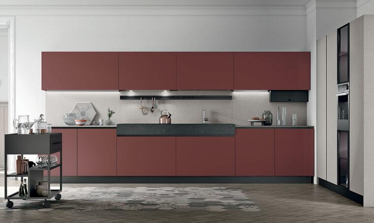 La cucina elegante e funzionale