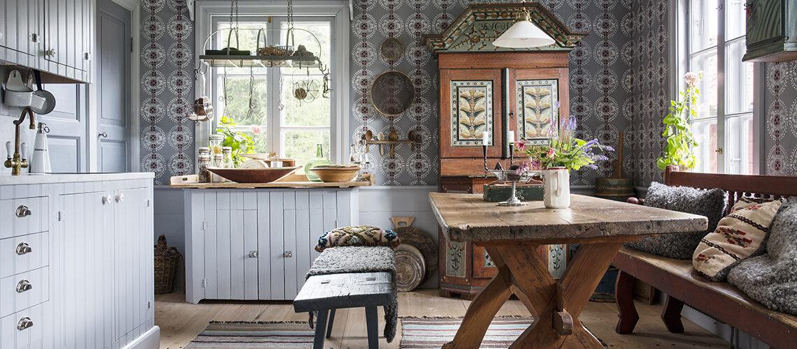 Nordico d'epoca per la tipica casa svedese del '600