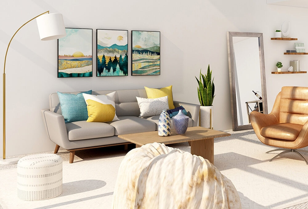 Quattro 'schemi' per arredare il soggiorno