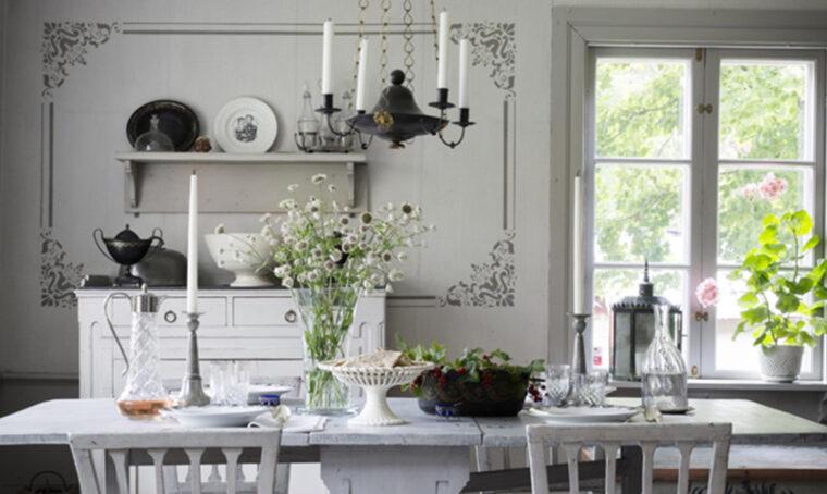 La zona pranzo ispirata alle case tradizionali nordiche