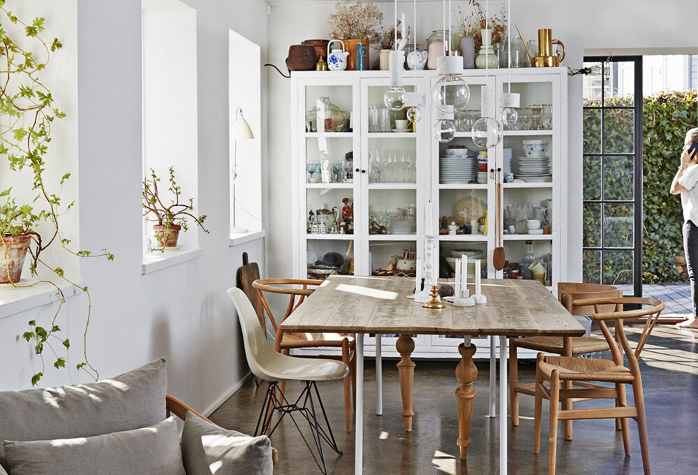 Colori neutri per il soggiorno in stile nordico