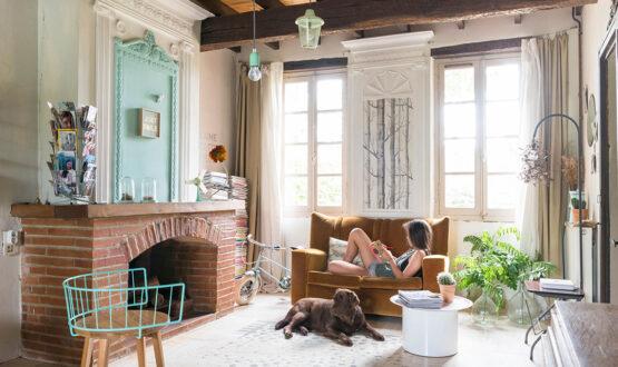 Oggetti vecchi per uno stile nuovo nella casa dell'interior designer