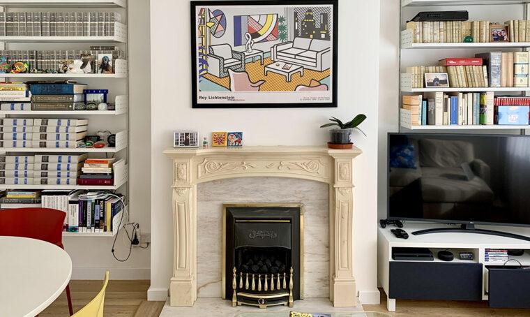 Una 'maisonette' a Londra tra colori primari e tanta luce