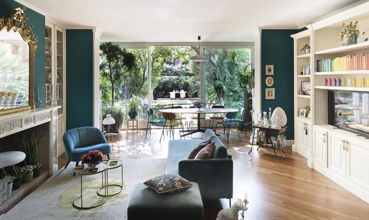 Largo alle piante nella villa milanese in affitto immersa nel verde