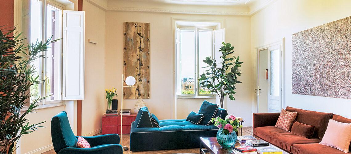 Nuovi usi del colore per una casa storica dal gusto contemporaneo